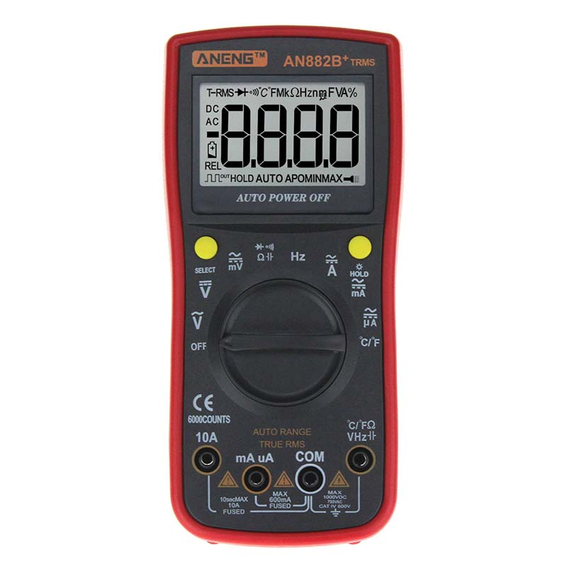 Multimeters ANENG AN882B+ TRMS are Battery Powered TRUE RMS Auto Ranging Digital Universal Meter Electrical Instruments DA
