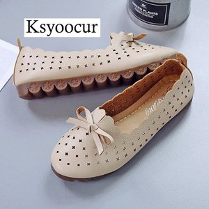 Image 4 - Brand Ksyoocur 2020 New Ladies Flat Shoes Casual Women Shoes Comfortable Round Toe Flat Shoes Spring/summer Women Shoes X05