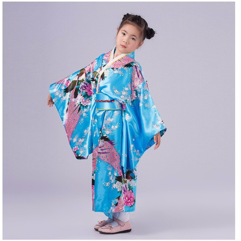 Fashionable Japanese Girl Kimono Dress Children Yukata Kid Girl Stage Dance Costumes Child Cosplay Dress Flower-in Asia u0026 Pacific Islands Clothing from ...  sc 1 st  AliExpress.com & Fashionable Japanese Girl Kimono Dress Children Yukata Kid Girl ...