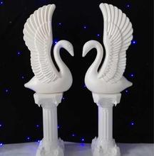 European Plastic Swan Rome Pillar Road Flower Invitation Area Background Decoration Wedding Projects
