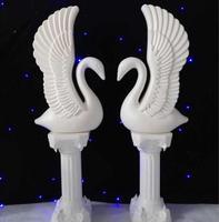 European Plastic Swan Rome Pillar Road Flower Invitation Area Background Decoration Wedding Projects