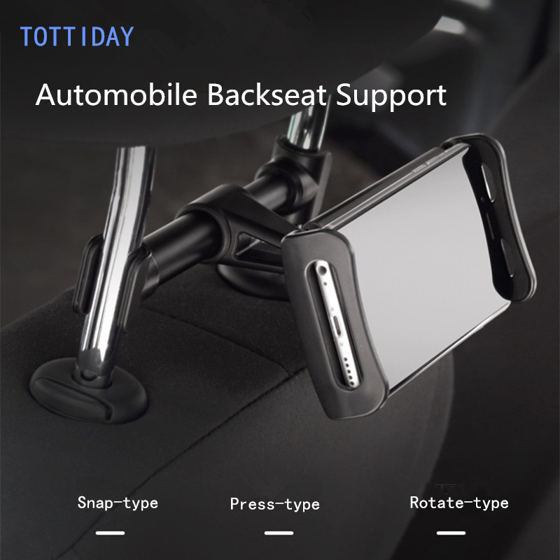 TOTTIDAY Backseat Mount Car Holder For iPhone 8 X iPad mi Pad Samsung S8 Tablet 360 Degree Back Seat Mobile Phone Holder Stand
