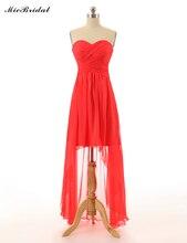 MicBridal High-Lower Chiffon Bridesmaid dress Sweetheart-neck Sleeveless Bridesmaid Gowns Custom US SIZE 0 2 4 6 8 10 12++