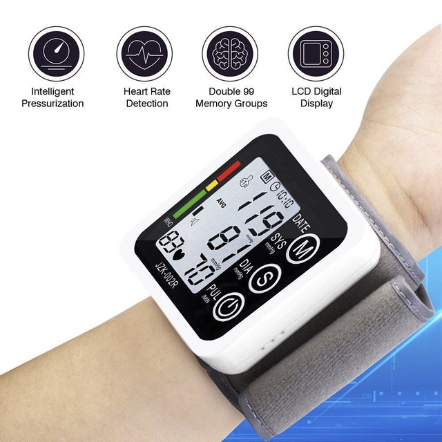 LCD Portable Case Cover For Omron 10 Series Wireless Upper Blood Pressure Monitor Loud Voice Digital Wrist Sphygmomanometer 1
