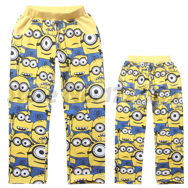 832c351df19189 2015 New Arrival boys pants Kids Clothes Boys Minions Despicable Me Pants  baby Cartoon Trousers Children wear Free Shipping