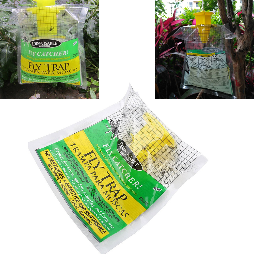 1pcs Flycatcher Fly Trap Hanging Fly Attracting Bag Attractant for Outdoor Garden Pest Catcher Products Disposable Bait Bag1pcs Flycatcher Fly Trap Hanging Fly Attracting Bag Attractant for Outdoor Garden Pest Catcher Products Disposable Bait Bag