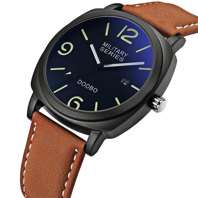 Top Brand Luxury Leather Strap Men's Quartz Fashion Casual Sports Army Watches Men Military Wrist Watch Relogio Masculino DOOBO xinge top brand luxury leather strap military watches male sport clock business 2017 quartz men fashion wrist watches xg1080
