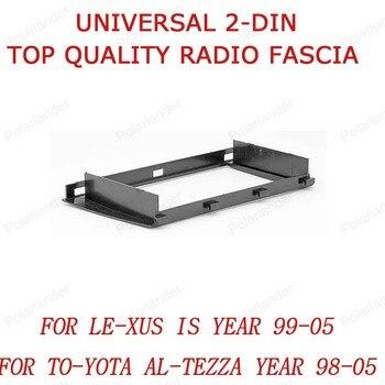 Caja de superficie de conversión de audio del panel de la máquina universal de CD para LE-XUS es año 99-05 para TO-YOTA Al- teza año 98-05 2 din