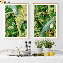 Cartoon Bird Flower Wall Art Canvas Painting Nordic Posters And Prints Pop Pictures For Living Room Decor