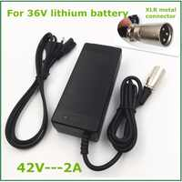 36V charager 42V2A electric bike lithium battery charger for 36V lithium battery pack with XLR Socket/connector good quality