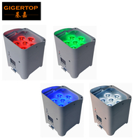 TIPTOP 4XLOT White Shell 6 6W RGBWA UV 6IN1 Battery Wireless Led Par Light DMX 6/10CH American Dj Freedom 6 Color Led Par Cans
