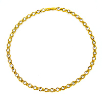 38 Full Gold Color 316L Stainless Steel Girl Necklace Magnetic therapy Negative Exquisite white zircon Jewelry Design For Women