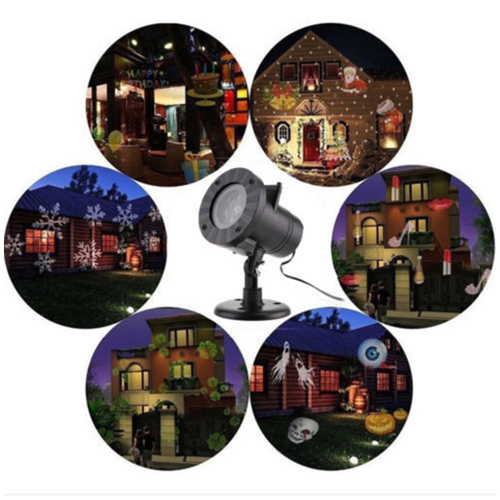 где купить Outdoor Xmas LED Laser Projector Light Christmas Lamp Landscape Garden Decor Props with 12 Slides -- JDH99 дешево