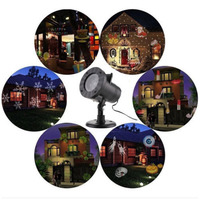 Outdoor Xmas LED Laser Projector Light Christmas Lamp Landscape Garden Decor Props with 12 Slides JDH99