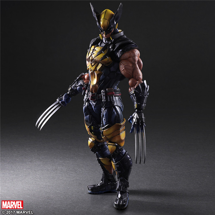 Elsadou 26cm Play Arts PA Marvel The Avengers Wolverine Action Figure Toy Doll Collection цена