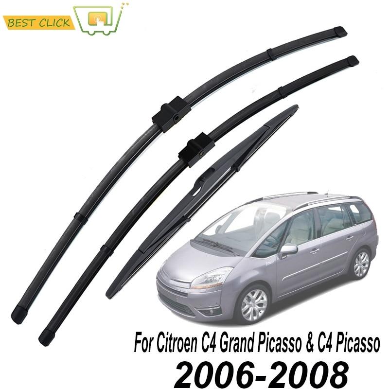 Misima Windshield Windscreen Wiper Blades For Citroen C4 Grand Picasso / C4 Picasso 2006 2007 2008 Front Rear Window Set Kit
