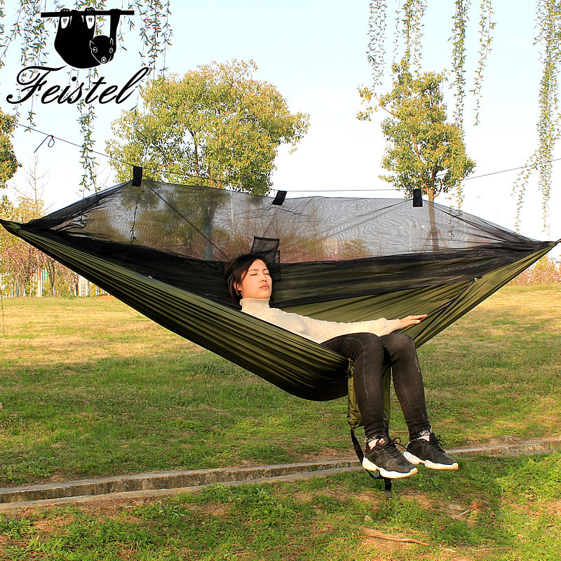 Sleeping Mosquito Net Hammock Large 300CM Camping Rede 2 People Portable Parachute 210T Nylon