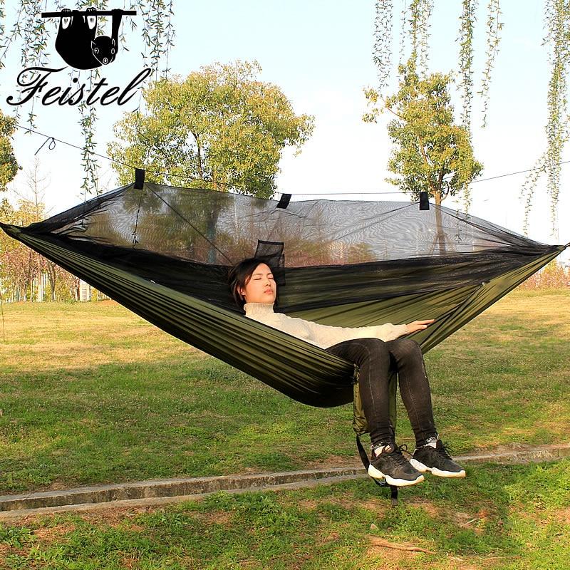 Moustiquaire de couchage hamac grand 300 CM Camping Rede 2 personnes portable parachute 210 T NylonMoustiquaire de couchage hamac grand 300 CM Camping Rede 2 personnes portable parachute 210 T Nylon