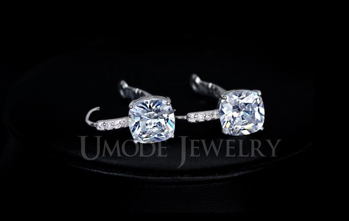 e521a557bc8a UMODE romántico tres anillos de compromiso de piedra Color oro blanco CZ  Vintage boda mujer anillos