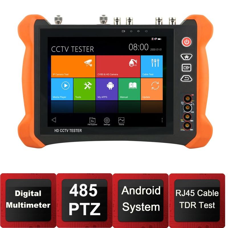 8inch IP Camera Tester Security CCTV Tester CVBS Monitor Analog Tester with SDI/TVI/AHD/CVI/HDMI/TDR/Optical PowerMeter/VFL/POE цены