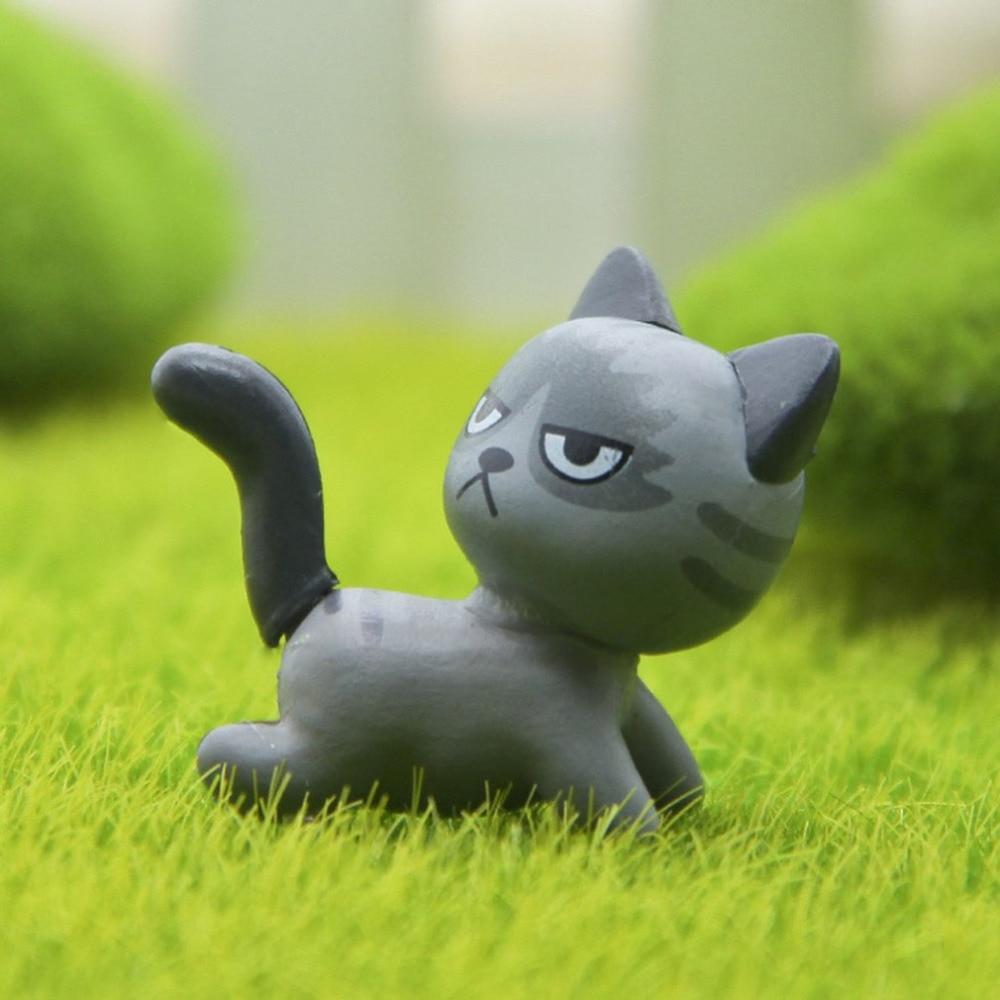 Cute Cartoon Cat Resin Craft Mini Miniature Garden Decor Ornament ...