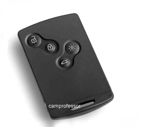 New Uncut Remote Key Fob 4 Button 433Mhz PCF7953XTT Chip for Renault Clio4 new remote key fob 3 button 433mhz id83 for mazda cx 5 ske13e 01 uncut blade