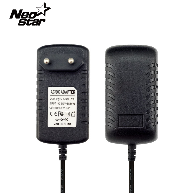 Universal EU UK US 12V2A AC 100V-240V Power Charger Adapter Switching Converter DC 12V 2A Travel Supply EU Plug Charger Power