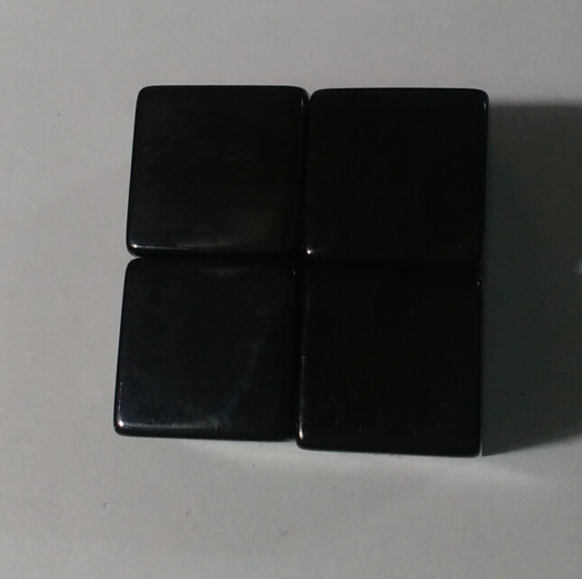 Free shipping NEW 4pcs 6-sided 16mm Square corners BLACK blank dice can be writed by pen for board game accessories
