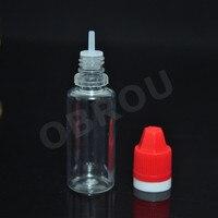 Obrou熱い販売100ピース空15ミリリットルクリアpetハードプラスチックスポイト瓶チャイルドプルーフキャップスポイトボトル