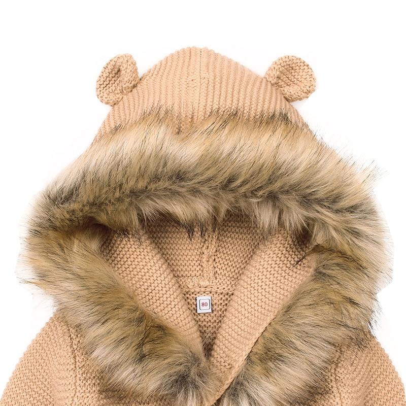 9af481332 Encontrar Autumn Warm Baby Sweater Fur Collar Hood Detachable Girls ...