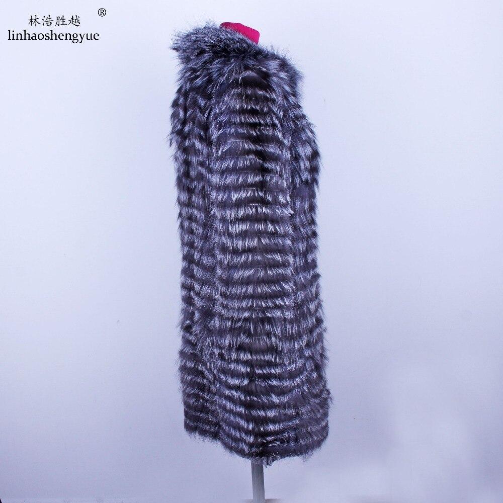 Linhaoshengyue 2018NEW HEIßER fuchs pelz langen mantel Wolle garn ist gefüttert mit weich und bequem futter-in Echtes Fell aus Damenbekleidung bei  Gruppe 3