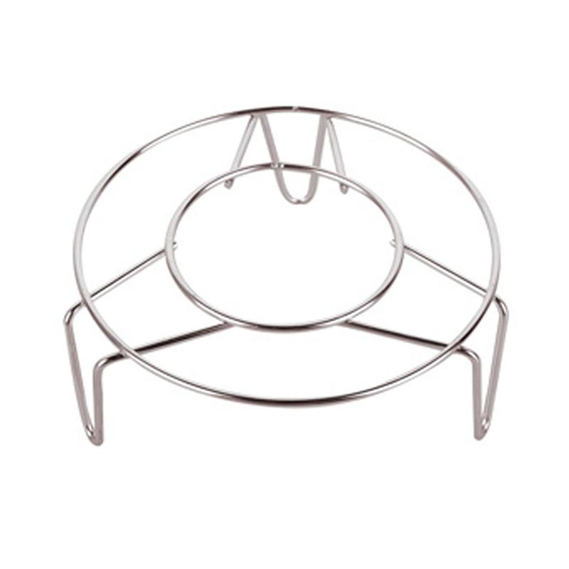 Home Kitchen Cooking Stainless Steel Round Cooker Steamer Rack Stand 13*2.5cm