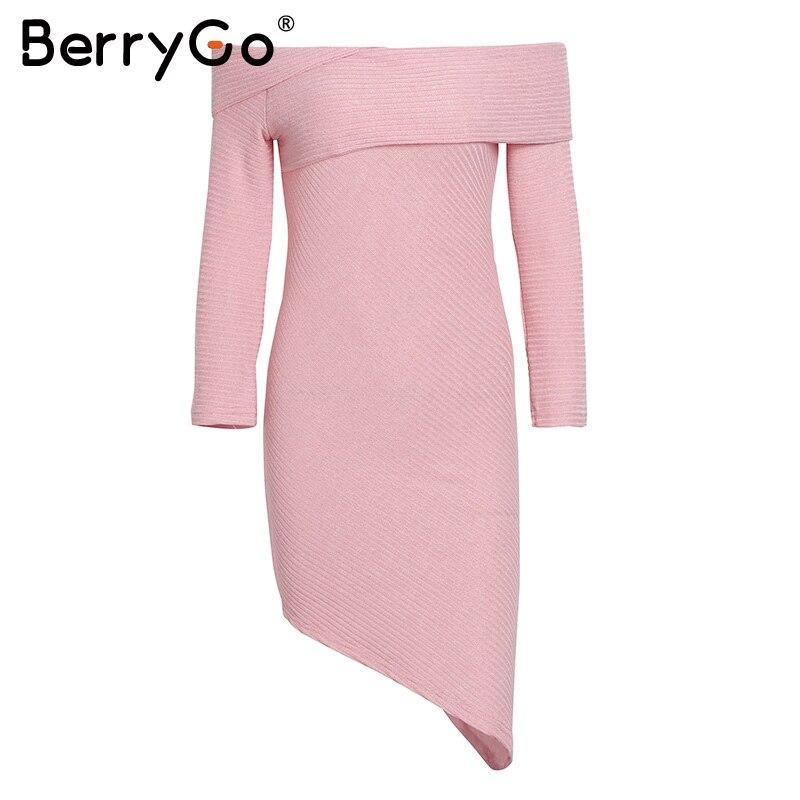 Aliexpress.com : Buy BerryGo Bodycon irregular hem dress vestidos de ...