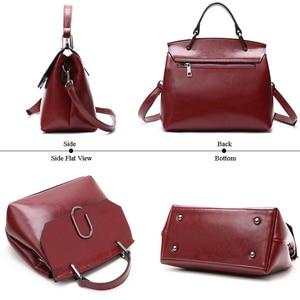 Image 3 - ESUFEIR Brand Genuine Leather Women Shoulder Bag Real Cow Leather Handbag Famous Design Crossbody Bag Casual Tote Top handle Bag