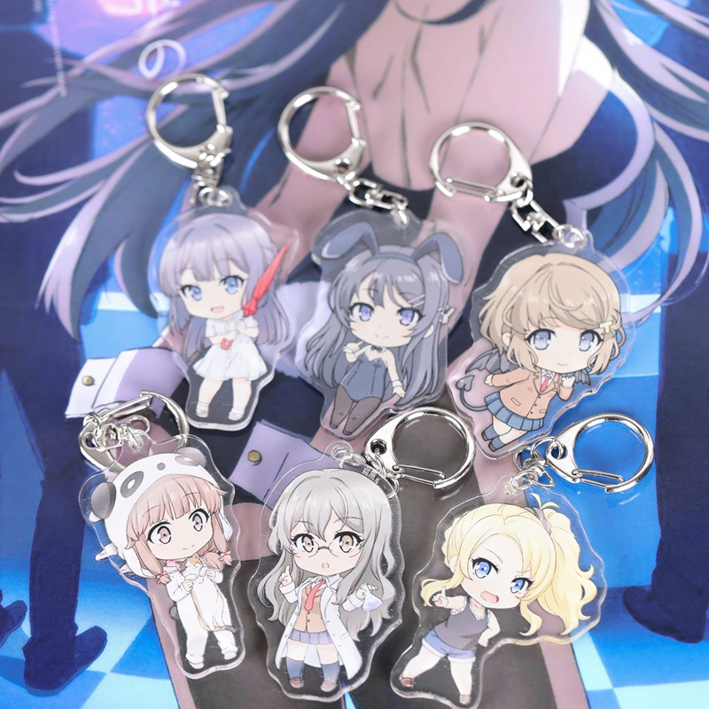 Japanese Anime NEW GAME! Cute Keychain Double Side Acrylic Bag Pendant Buckle