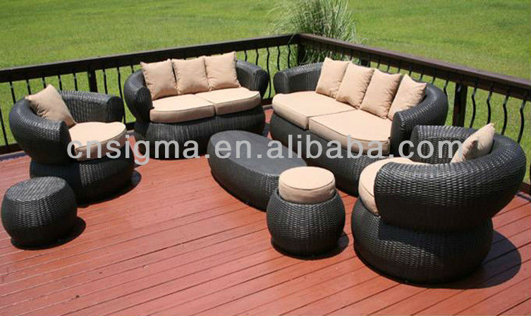 2017 Bali Style 7pc Outdoor Furniture Sofa Set Wicker Rattan Furniture Comfortable Garden Furniture