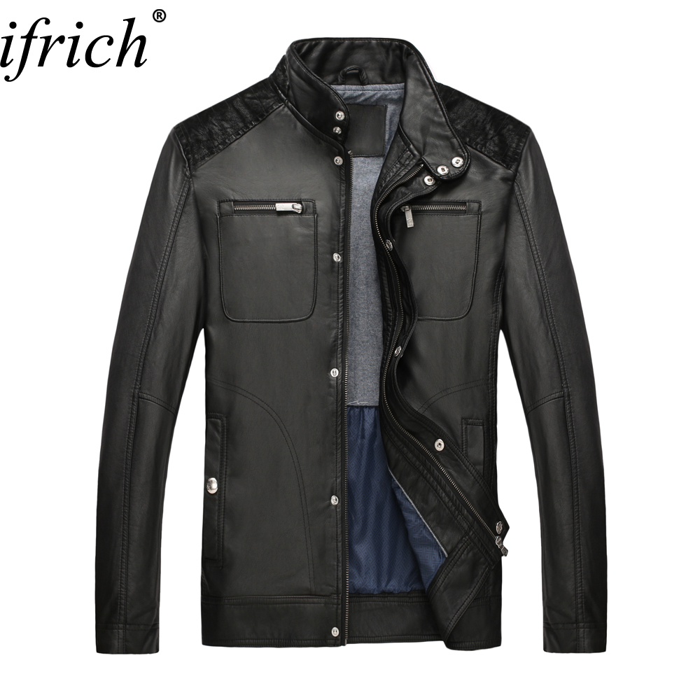 Hot Sale Motorcycle Leather Jackets Men Autumn Winter Faux Leather Jacket Male Business Casual Solid Pilot Leather Jacket Coats