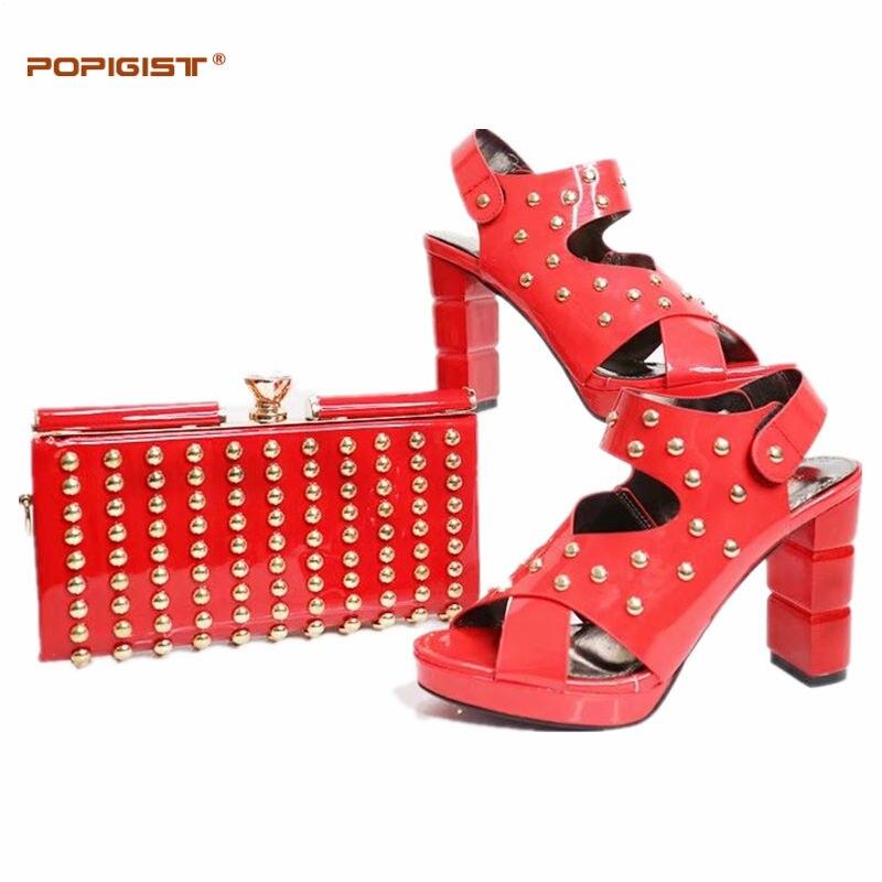 Conjunto Boda Blanco Zapatos Nigerianas Bolsas Decorado Y Color Remache A white Bolsa Juego Blue Italia gold red Mujeres De purple Black Con royal WYdwtqt7