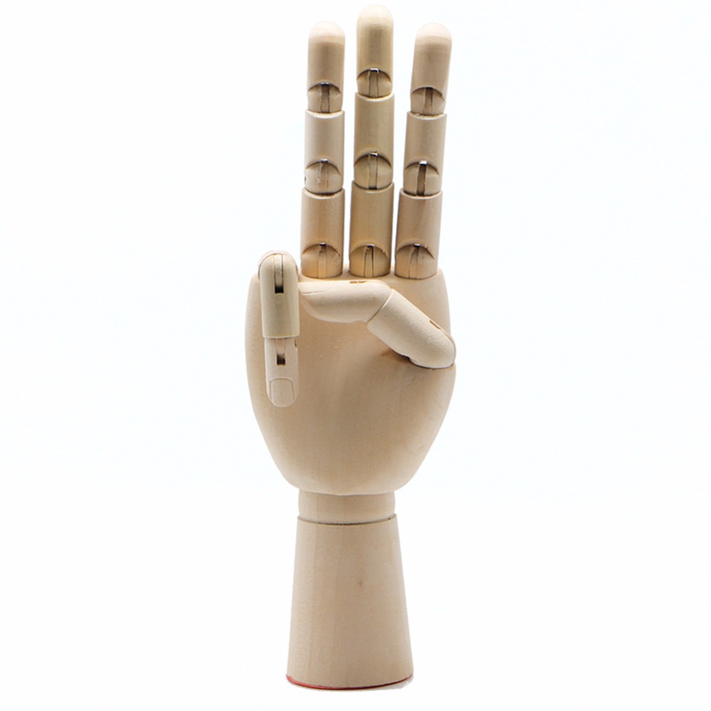 Right Left Hand Wooden Model Sketching Drawing Jointed Movable Fingers Mannequin  Right Left Hand Wooden Model Sketching Drawing Jointed Movable Fingers Mannequin