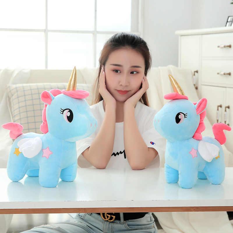 Azoo Kawaii ของเล่นตุ๊กตา Soft Unicorn ตุ๊กตา Appease หมอน Decor สำหรับเด็กของเล่นเด็ก Xmas ของขวัญ