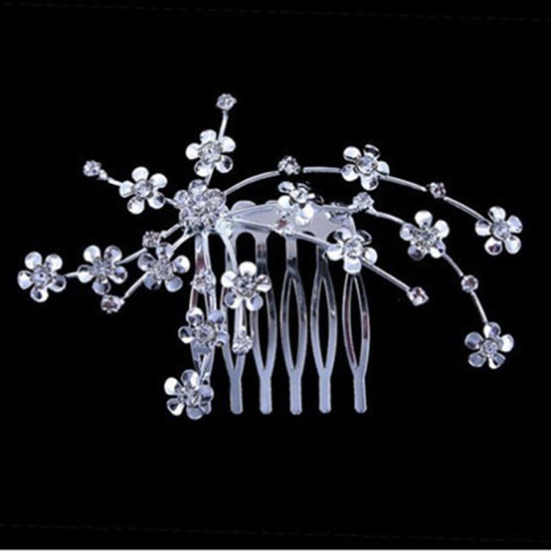 Aksesoris Rambut pengantin Warna Silver Vintage Wedding Party Bridal - Perhiasan fashion - Foto 2
