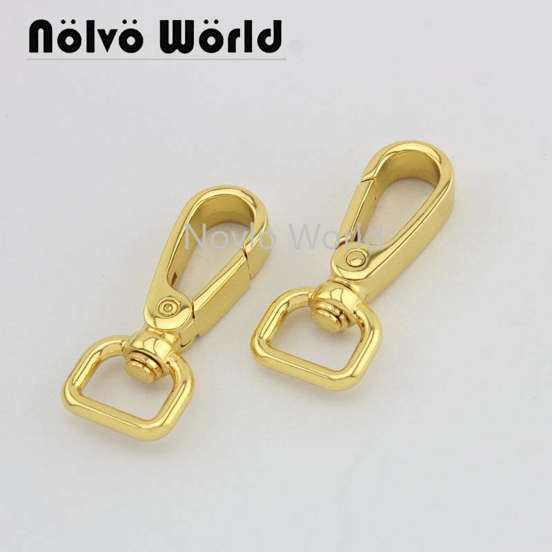 Wholesale 500pcs,4 Colors Accept Mix Color, 46*12.8mm 1/2 Inch, Metal Buckle Snap Hook Handbag Lobster Buckle Swivel Clasp Hook
