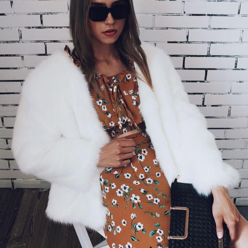 Hiver De Cardigans gris vert Chaud pink Longues Épaississent Manteaux Manteau Femme blanc Manches pink noir Vestes Mode Des 1 Rouge Faux 2 Survêtement Fourrure Streetwear À Femmes fvx5Rpqw