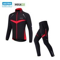 WOSAWE одежда ветрозащитная осень зима спортивные Велоспорт куртка брюки для девочек комплект 4D гель мягкий мотобрюки термальность Ropa Clismo