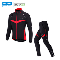 WOSAWE  chaqueta de ciclismo deportiva a prueba de viento para otoño e invierno  conjunto de pantalones con relleno de Gel 4D  pantalones térmicos  ropa ciclismo|winter set cycling|cycling sports|winter thermal cycling set -