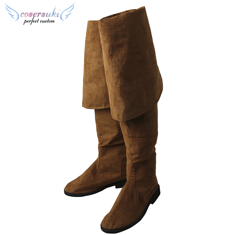 Pirates of the Caribbean: Dead Men Tell No Tales/Salazar's Revenge Jack Sparrow Cosplay Boots Professional Handmade! the jack sparrow revolution
