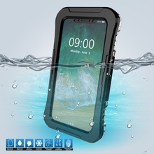 Фотография DULCII FOR iPhone X Case IP68 10M Underwater Waterproof Cover Cases for iPhone X/10 5.8 inch Dirt/Dust/Snow Proof Case - Black