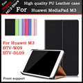 New design high quality PU Leather case For Huawei M3 BTV-W09 BTV-DL09, Smart Sleep function cover case For MediaPad M3 8.4 inch