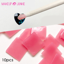10pcs Rhinestone Picker Gel Cube Nail Art  Gem Dotting Tools Silicone