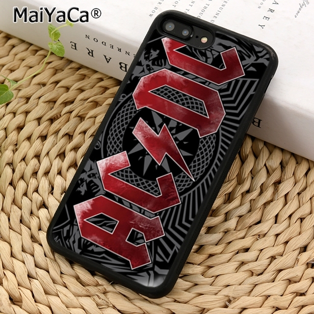 MaiYaCa ac dc acdc poster music Phone Case Cover For iPhone 5 6 7 8 plus 11 pro X XR XS max Samsung S6 S7 edge S8 S9 S10